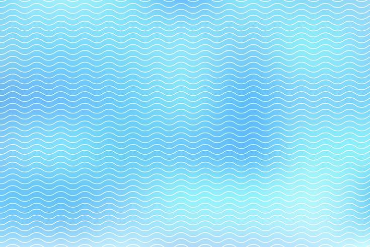 Le linee bianche astratte ondeggiano su fondo blu vettore