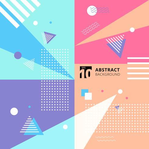 Priorità bassa di stile del reticolo geometrico colorato astratto. vettore