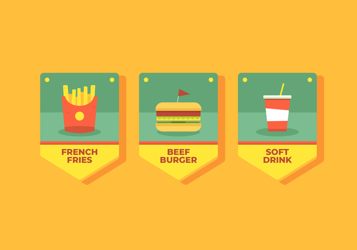 Vettore di banner fast food