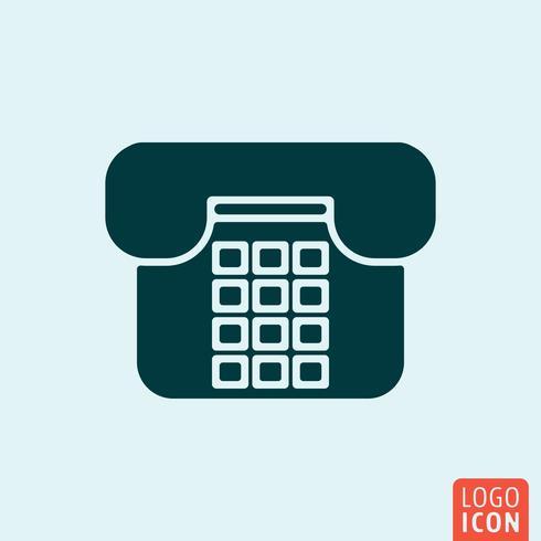 Design minimal icona telefono vettore