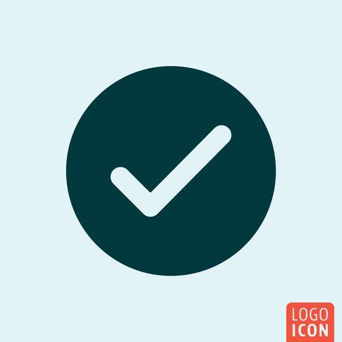 Vota il design minimale dell'icona vettore