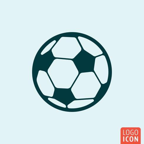 Design minimal icona pallone da calcio vettore