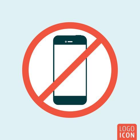 Disattiva l'icona dello smartphone vettore