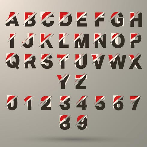 Modello di carattere alfabeto vettore