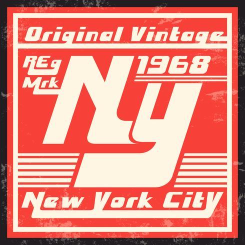 Francobollo d'epoca di New York vettore