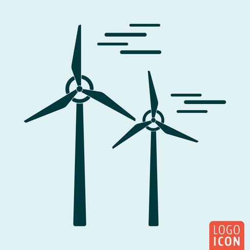 Icona del mulino a vento isolato vettore