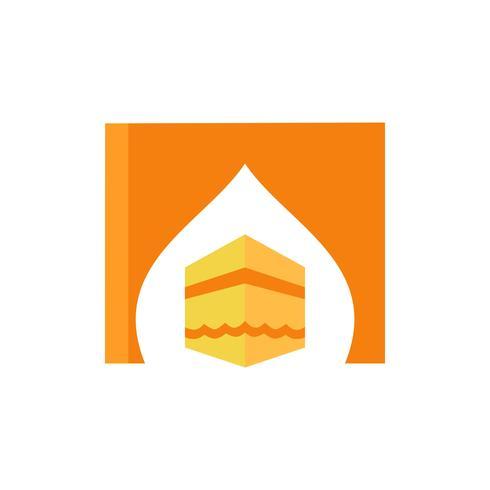 kaaba design piatto icona vettore