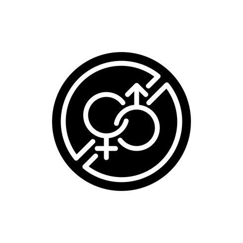 Ramadan no glifo dell'icona del sesso. Kareem Ramadan vettore