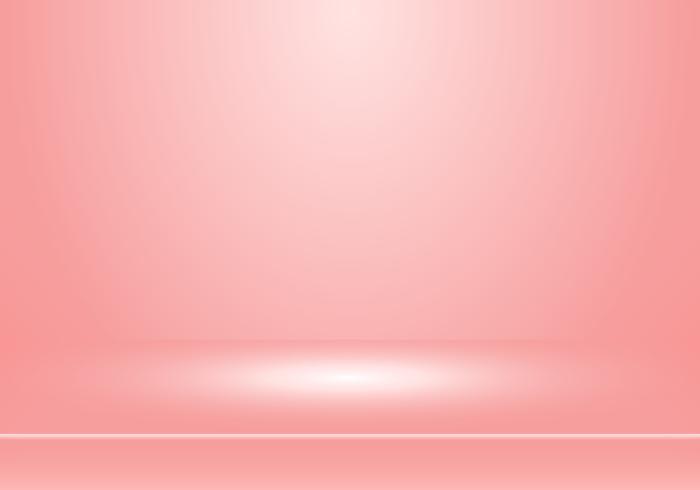 3D cabina di sala studio vuota per i progettisti con riflettori su sfondo sfumato di colore rosa pastello. Mostra il tuo prodotto o la tua opera d'arte. vettore