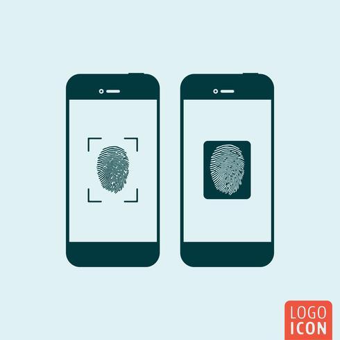 Icona di smartphone isolata vettore