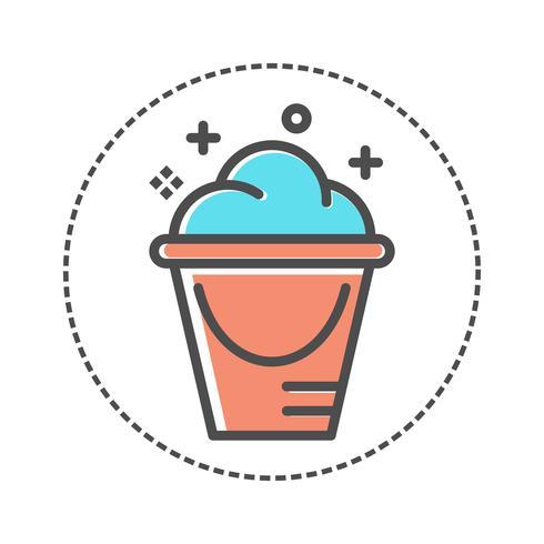 icona del cesto della biancheria. design piatto vettore