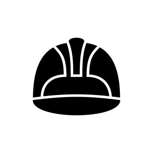 icona del glifo elmetto di sicurezza del lavoro vettore
