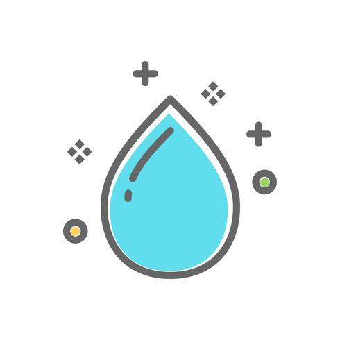 icona goccia d'acqua per il servizio di lavanderia vettore