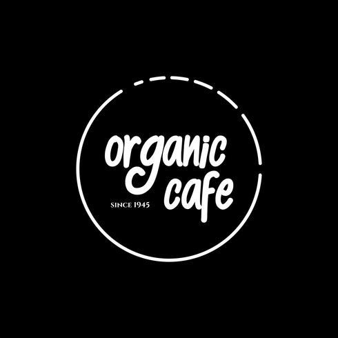 vettore di progettazione di caffè biologico