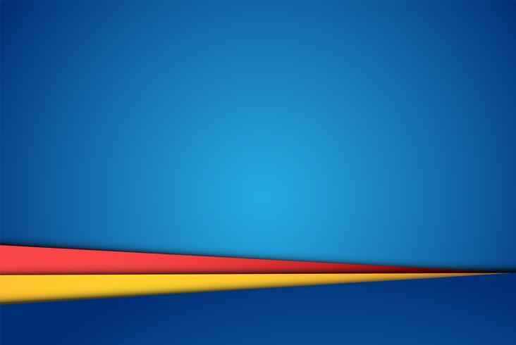 Fogli di carta variopinti realistici, illustrazione di vettore