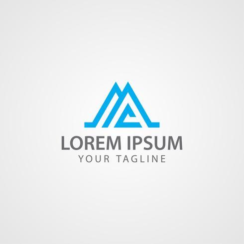 Modelli di progettazione di concetto di logo immobiliare vettore