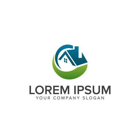 Logo immobiliare Concetto di design del logo di costruzione architettonica vettore