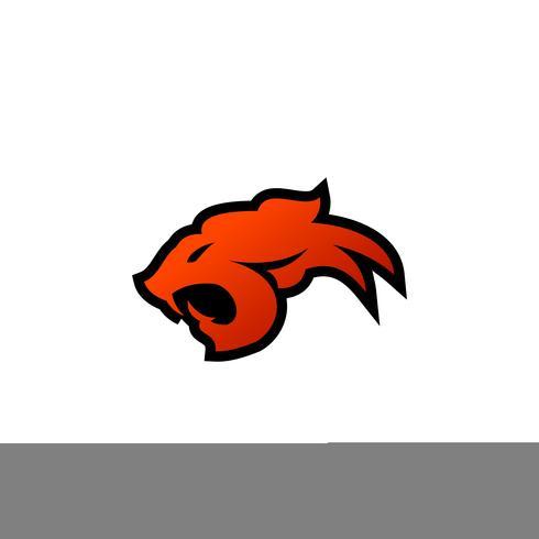 modello di concetto di progettazione di logo di testa di tigre vettore