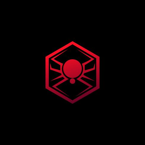 logo dell'emblema di ragno. modello di concetto di design del logo animale vettore