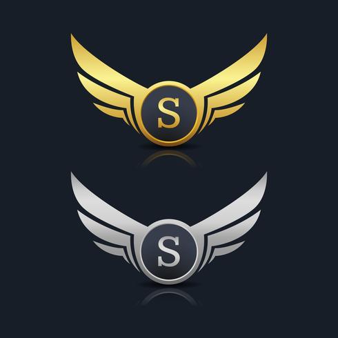Logo dell'emblema della lettera S vettore