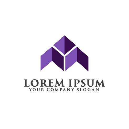 lettera A logo. Logo dell'edilizia e immobiliare vettore