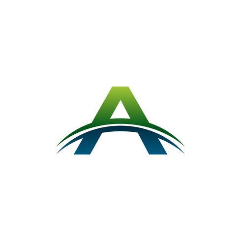 lettera Un modello di concetto di design del logo vettore