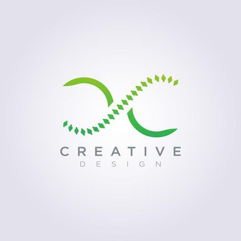 Modello di Logo di simbolo di clipart di progettazione dell'illustrazione astratta della spina dorsale di vettore