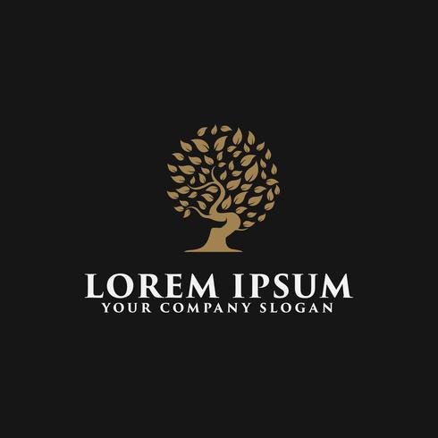 modello di concetto di design di lusso albero logo vettore