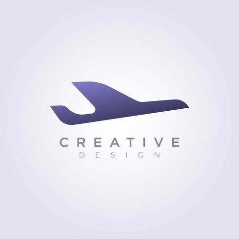 Modello di Logo di simbolo di clipart di progettazione dell'illustrazione di vettore dell'aeroplano