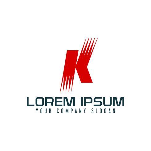 Modello di concetto di disegno di marchio di lettera K vettore