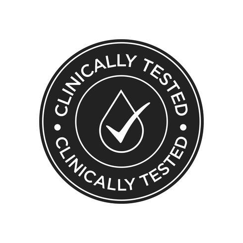Icona clinicamente testata vettore