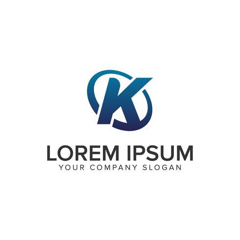 Modello di concept design moderno lettera K logo creativo. completamente ed vettore