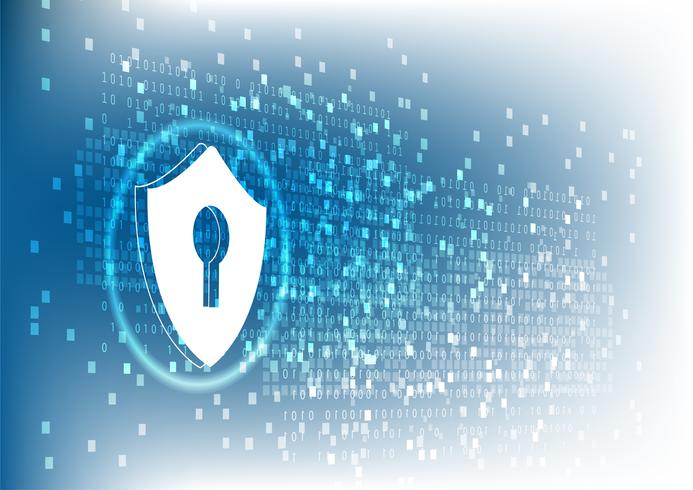 Concetto di sicurezza informatica di tecnologia Internet di proteggere attacco di virus informatico. vettore