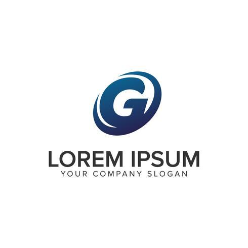 Modello di concept design moderno lettera G logo creativo. completamente ed vettore