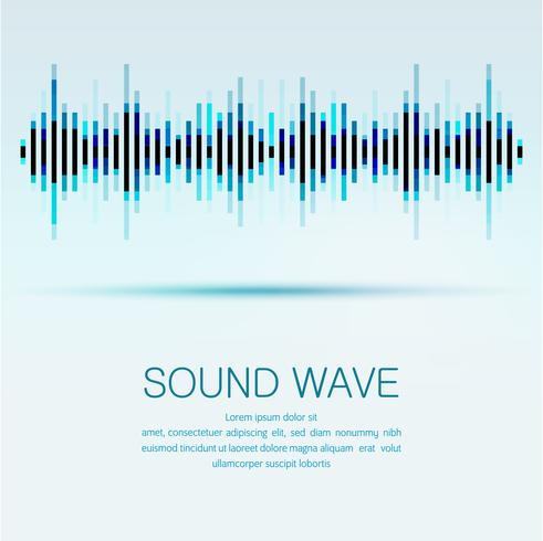 Equalizzatore digitale astratto, fondo dell'elemento del modello dell'onda sonora di progettazione creativa. vettore