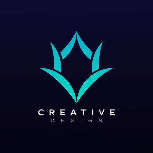 Icona astratta di simbolo di vettore di Logo della società di Design Template Horn di Horn Head