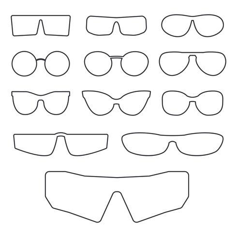 Montature per occhiali isolate vettore