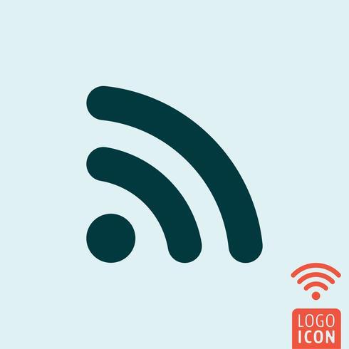 Icona wifi rss vettore