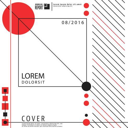Brochure di copertura geometria vettore