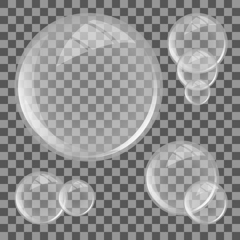 Set di lenti in vetro vettore