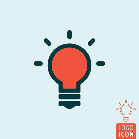 Icona della lampada isolata vettore