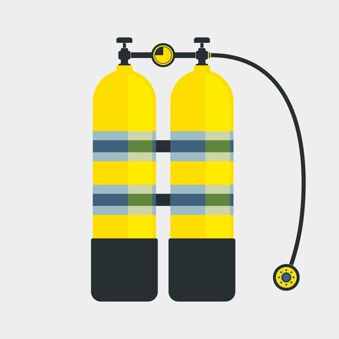 Icona di aqualung da immersione vettore