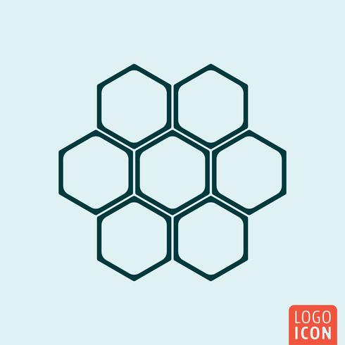 Icona a nido d'ape isolata vettore