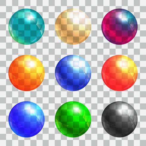 Set di palle di colore vettore