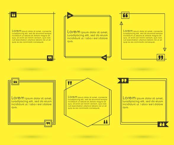 Set di modelli di citazioni vettore