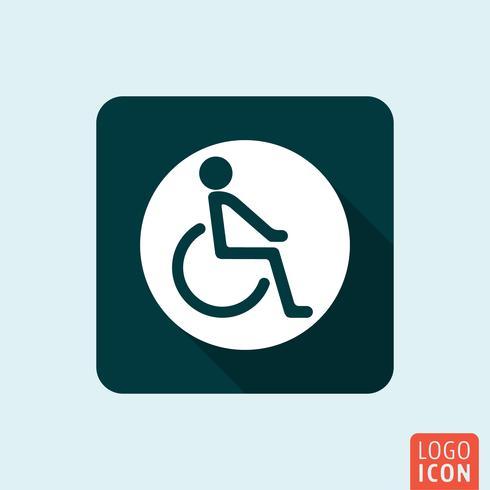 Icona di handicap disabili isolata vettore