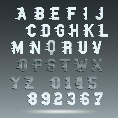 Modello di alfabeto di carattere vettore