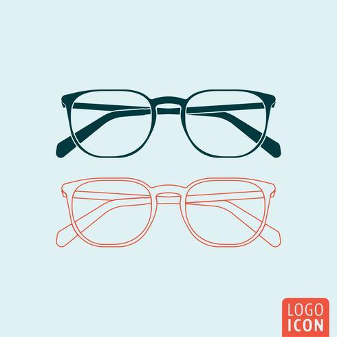 Icona di occhiali isolata vettore