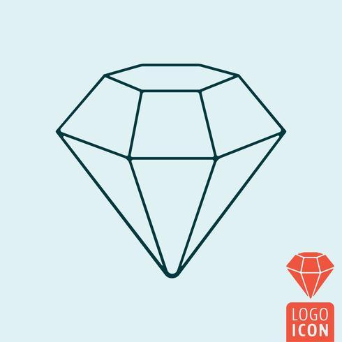 Icona di diamante isolata vettore