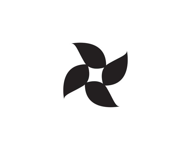 modello di logo e simbolo di natura verde foglia vettore